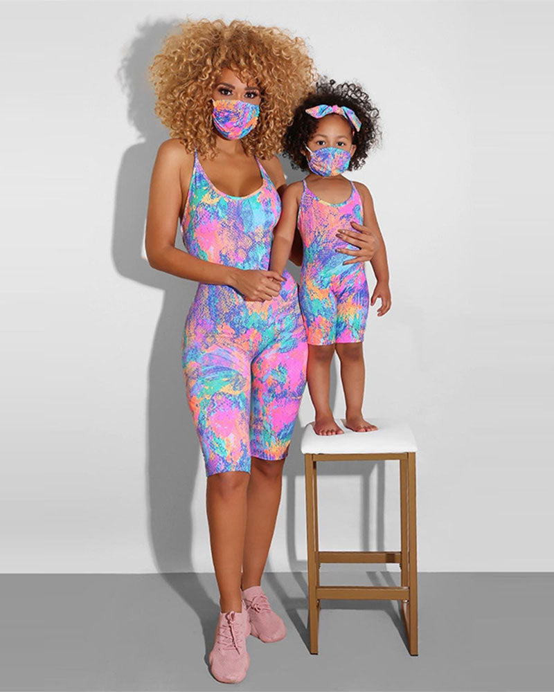 Colorful Parent-child outfit Jumpsuit