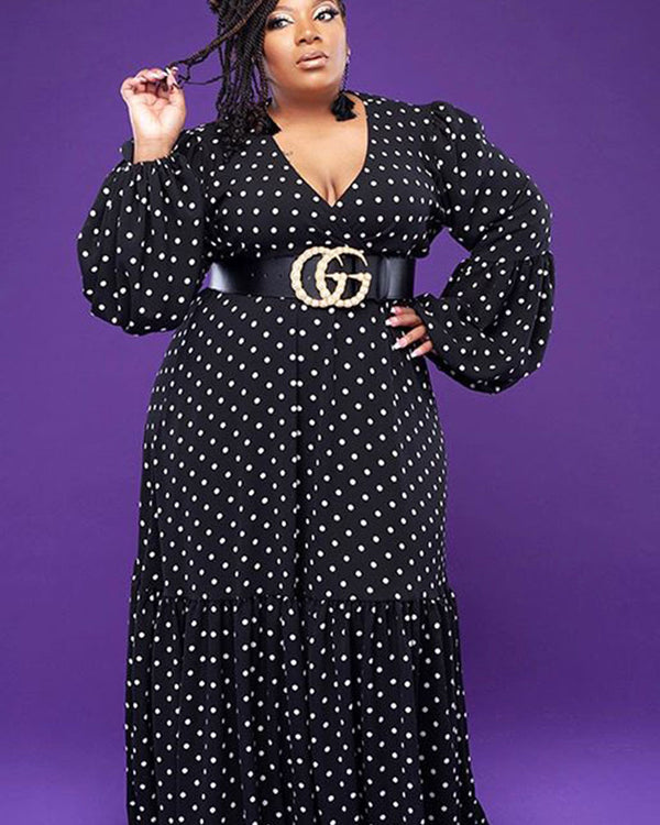 Dotted Bliss plus maxi dress
