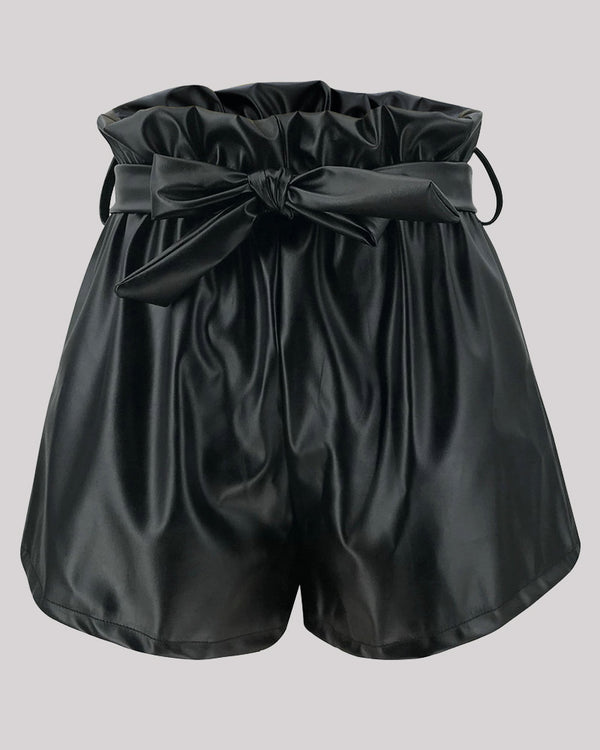 ROCK WITH ME FAUX LEATHER SHORTS