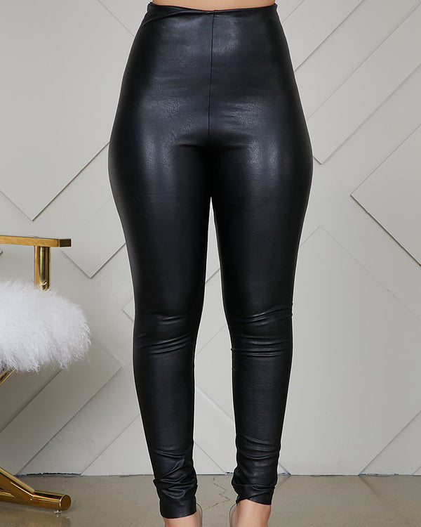 Perfect Fit Faux Leather Leggings