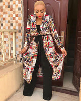 Law Of Attraction Print Coat With Belt