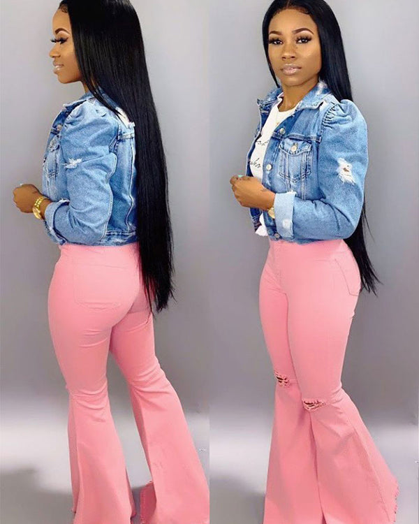 The Perfect Pink Denim Jeans