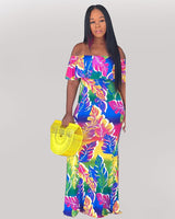 Farrah Fit And Flare Maxi Tiered Dress