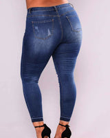 Distressed Curvy Jeans