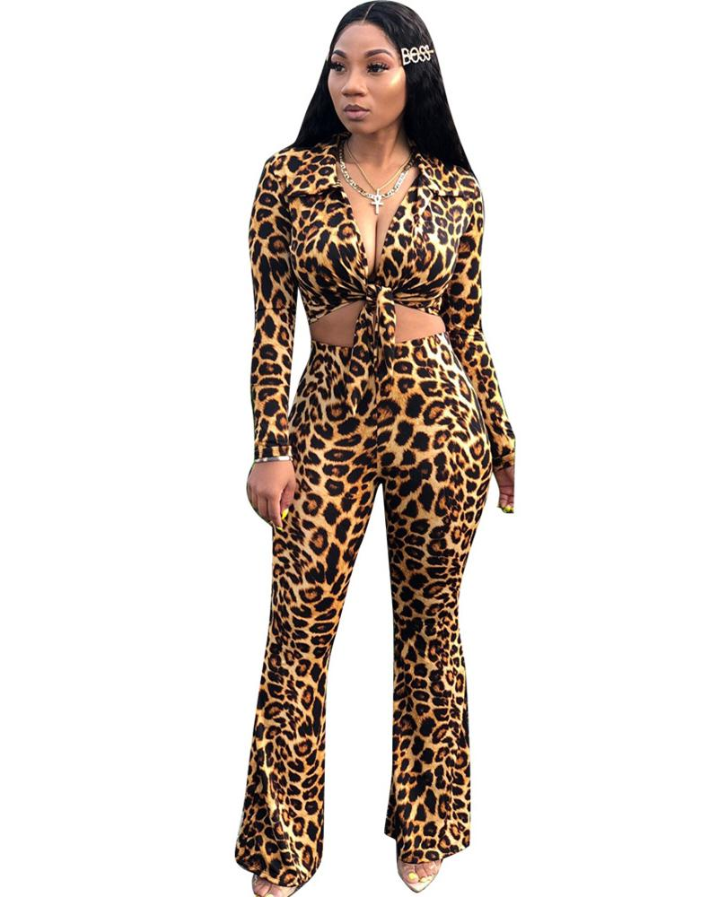 Wildly Popular Leopard Two Piece Set