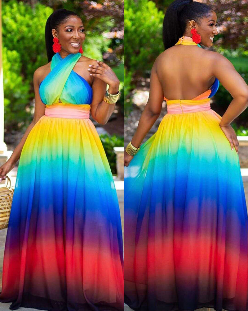 Dipped In Color Dress