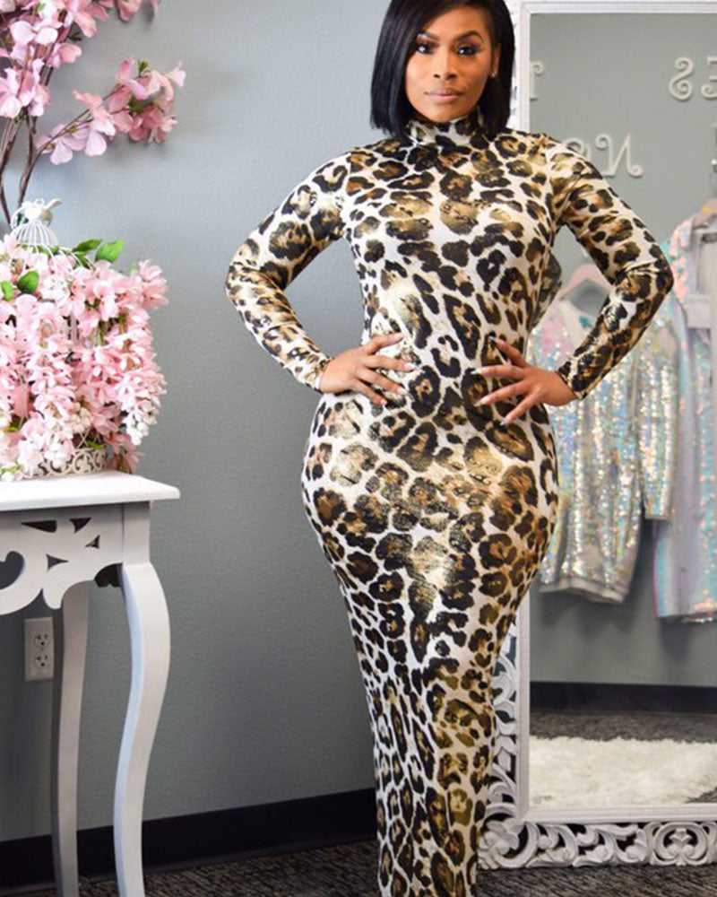 CATARINA LEOPARD MAXI DRESS