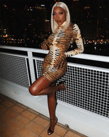 Love Is Automatic Brown Leopard Print Dress