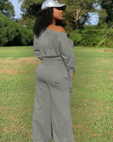 Knotted cuff Jumpsuit