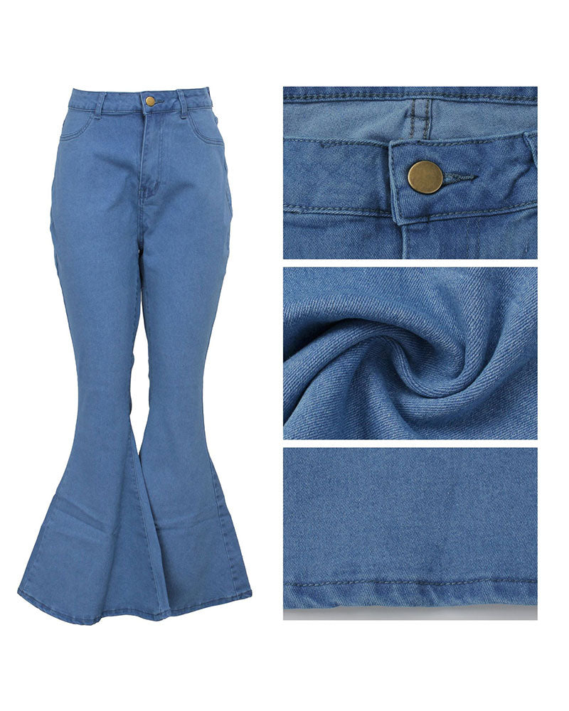yours plus bell-bottomed jeans