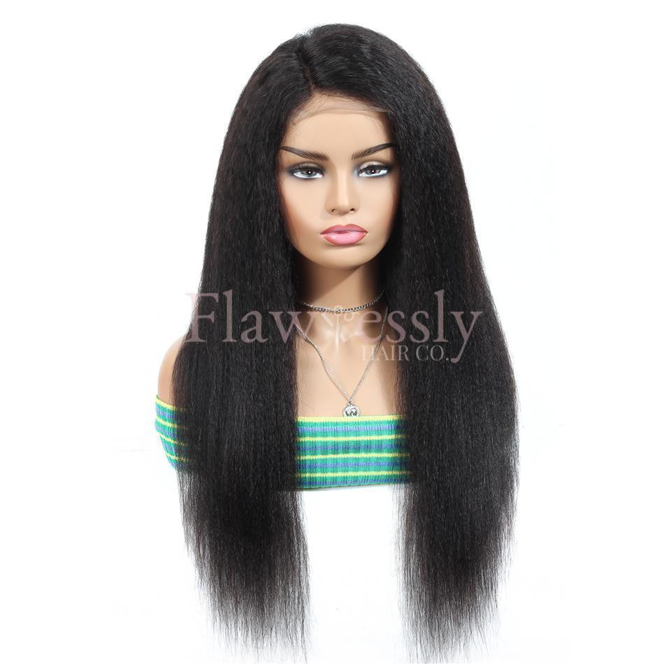 Flawlessly Virgin 13*4 Lace Wig - Kinky Straight.