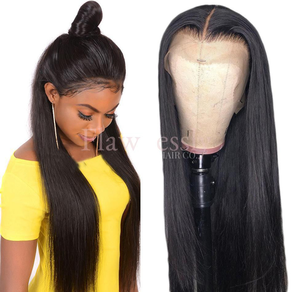 Flawlessly Virgin 13*4 Lace Wig - Silky Straight.