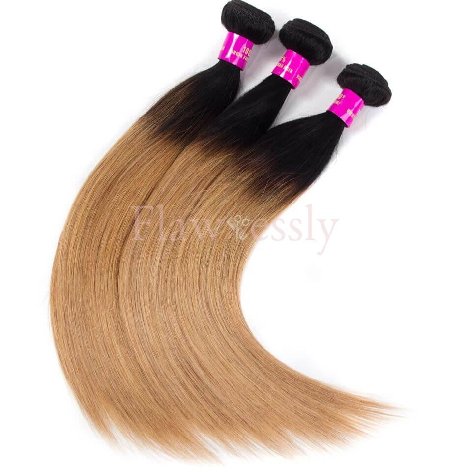 Pure Virgin Remy Hair - 1B/27 - Straight.