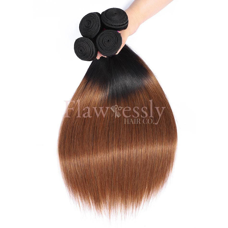 Pure Virgin Remy Hair - 1B/30 - Straight.