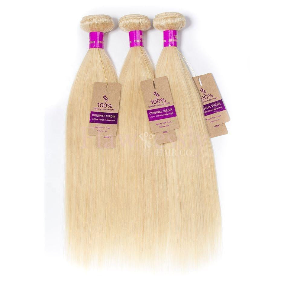 Glam Silky Straight Hair Bundle Deal - Blonde
