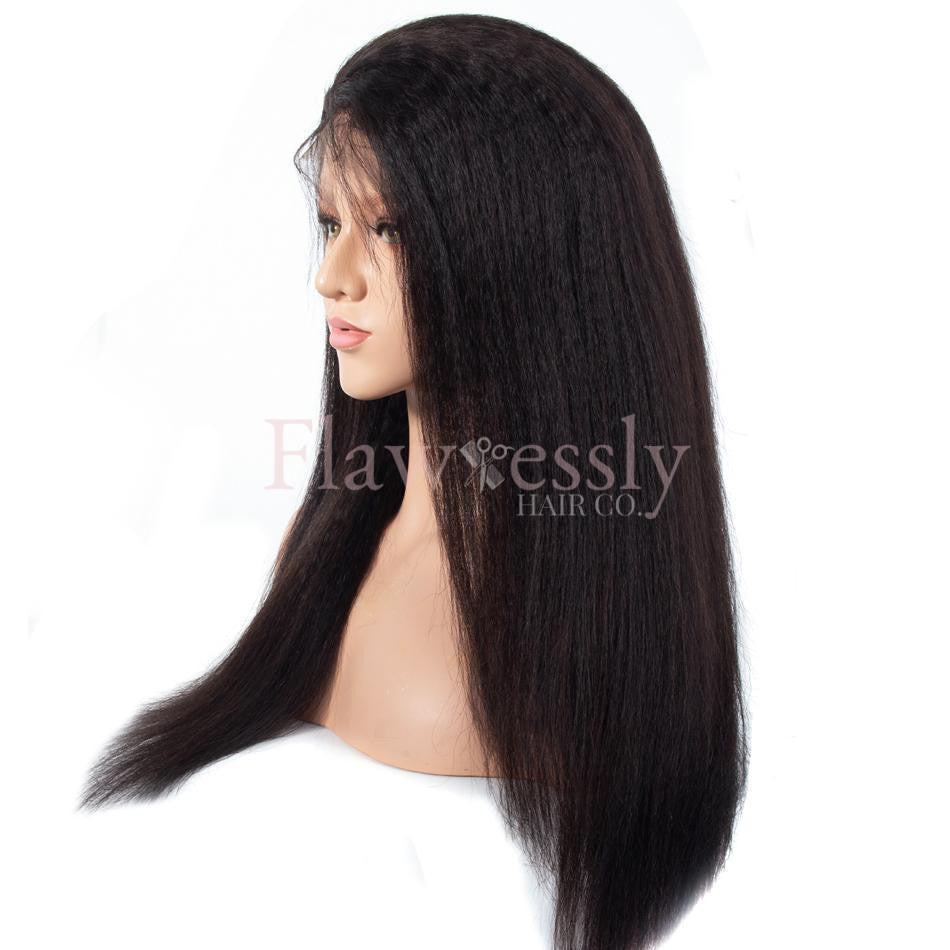 Flawlessly Virgin 360 Lace Wig - Kinky Straight.