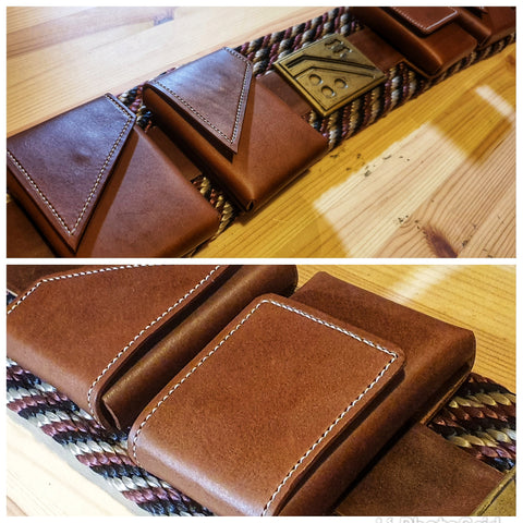 Leather Pouches  (Set of 4)