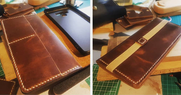 "iPhone/Samsung Note ""Flatpack"" leather case"