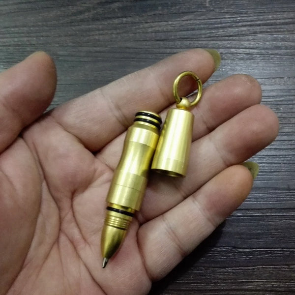 Mini Brass Precision Cap EDC Portable  Pen