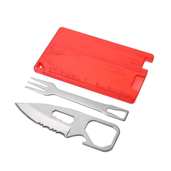 Camping Knife Fork EDC Card