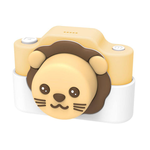 digital kids camera jungle collection yellow lion frontside