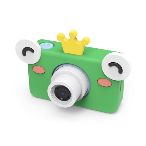 digital kids camera blue prince frog sleeve frontside
