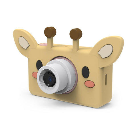 Kids digital camera in beige colored giraffe design