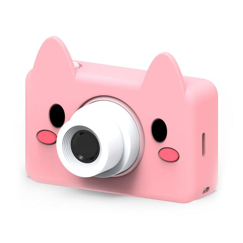 pink pig digital kids camera animal sleeve frontside