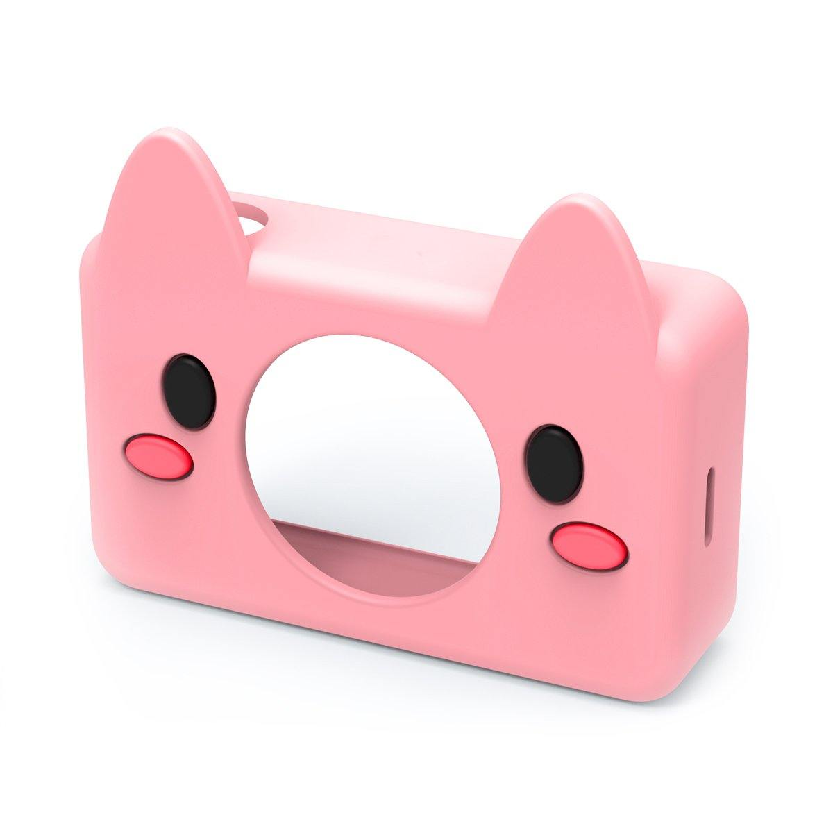 digital kids camera pink pig sleeve