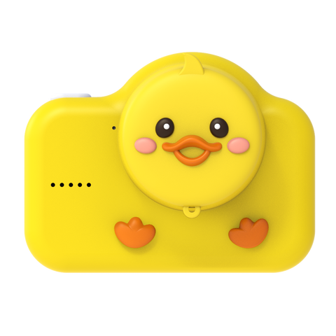 walnut duck digital kids camera yellow lens protection cover