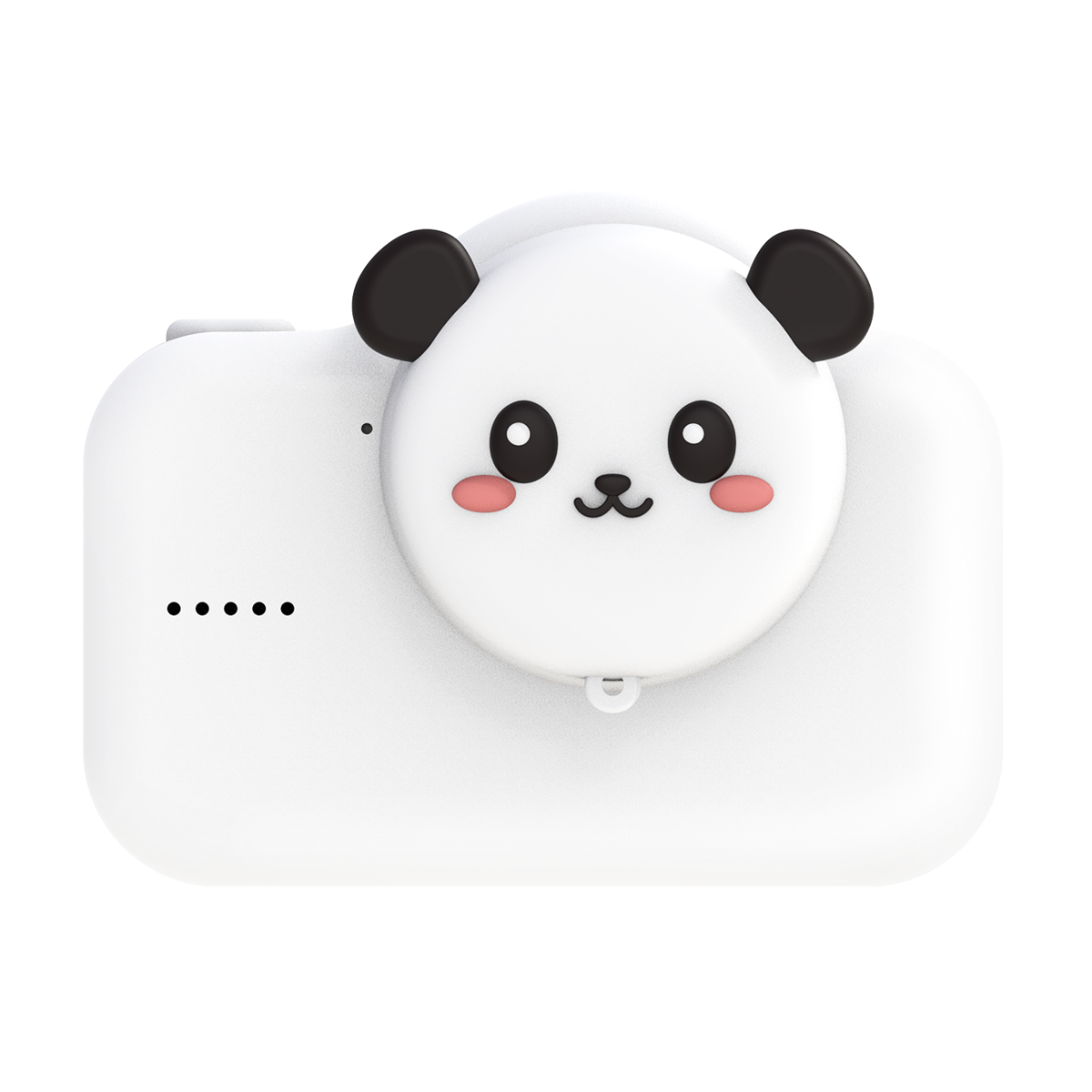 digital kids camera king panda white black
