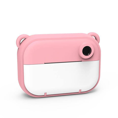 instant print kids camera pink bear frontside