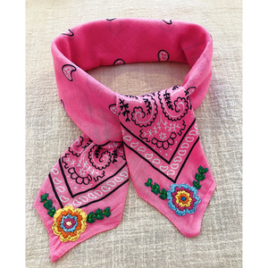 ~MADE TO ORDER | 70s floral bandana~