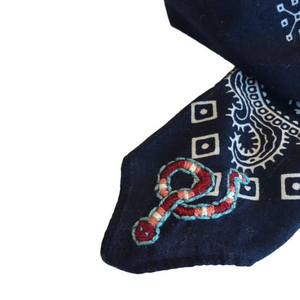 ~MADE TO ORDER | skull & snake bandana~