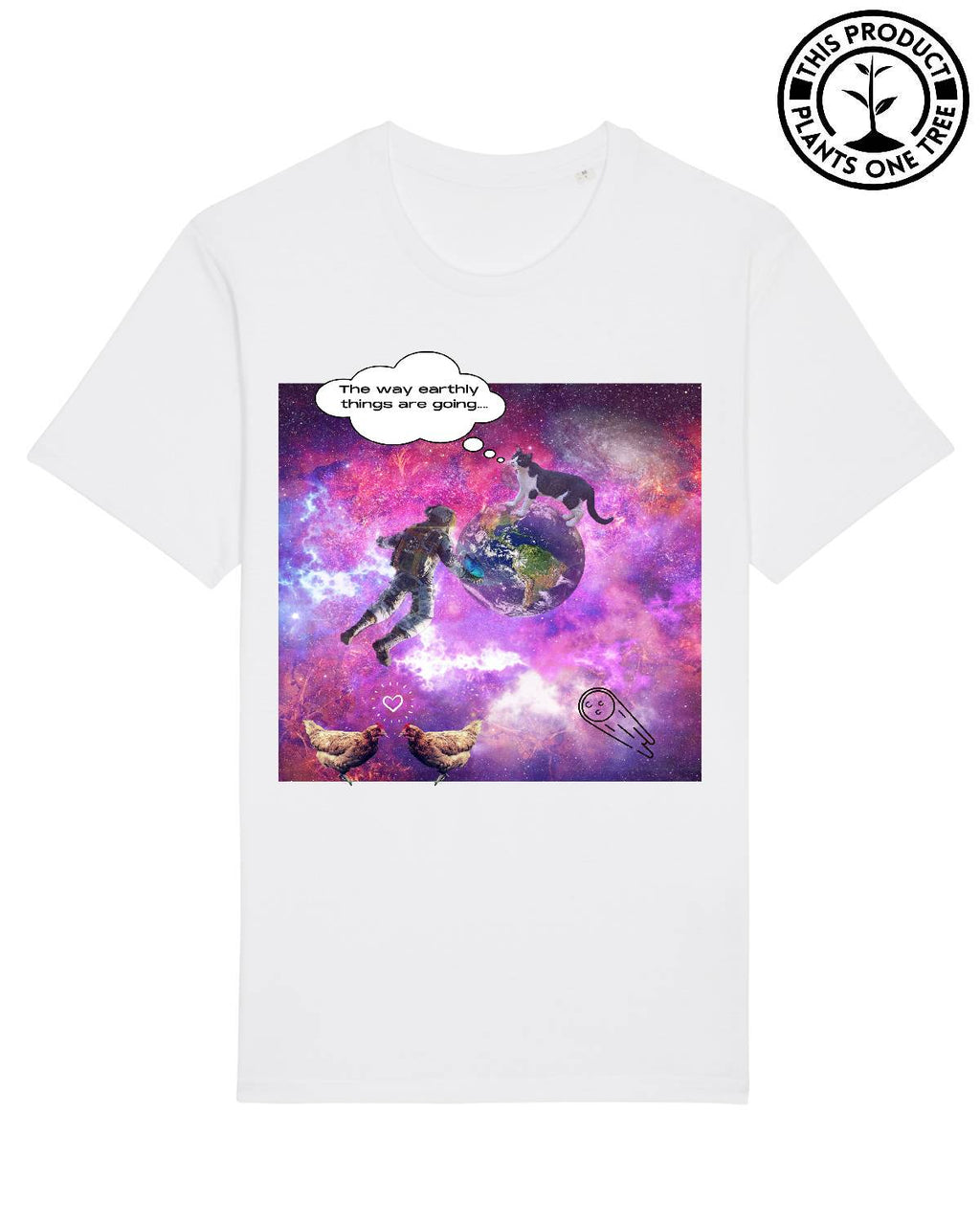 Space Unisex T-shirt White