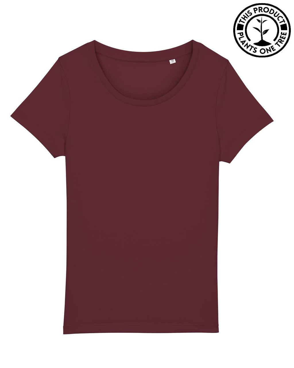 Basic Feminine T-shirt Burgundy