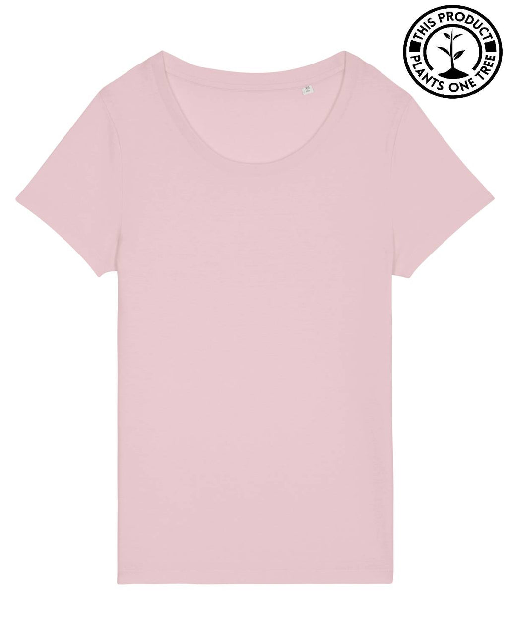 Basic Feminine T-shirt Cotton Pink