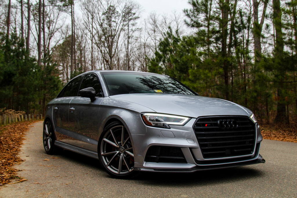 pure carbon fiber front lip splitter spoiler for audi s3. Black Bedroom Furniture Sets. Home Design Ideas