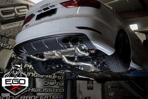 "EGO-X 3"" Catback Exhaust For Audi S3 (8V)"