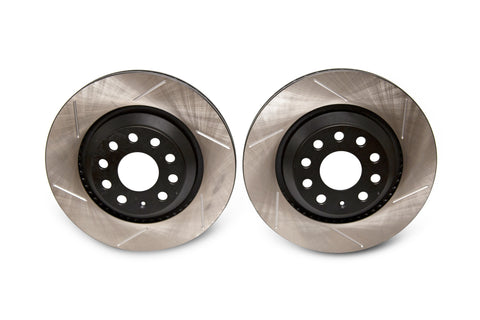 EMD Auto 310x22mm Coated High Carbon Rear Slotted Brake Rotor (Pair)
