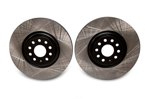 EMD Auto 340x30mm Coated High Carbon Front Slotted Brake Rotor (Pair)
