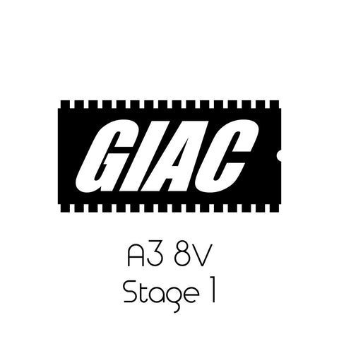 Audi A3 8V 2.0T GIAC Stage 1 Performance ECU Software Upgrade