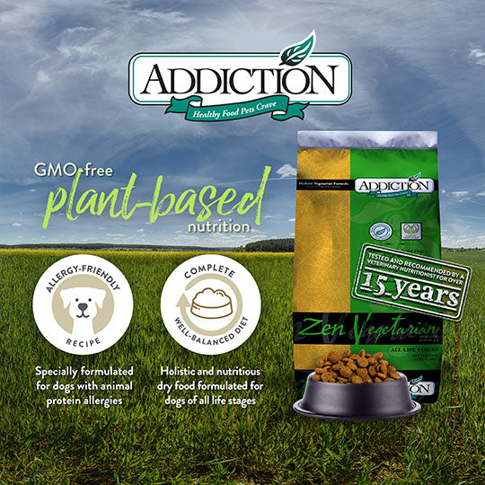 Addiction - Zen vegetarian dog food 1.35 kg bag