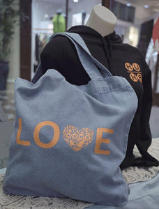 HUHA LOVE denim tote