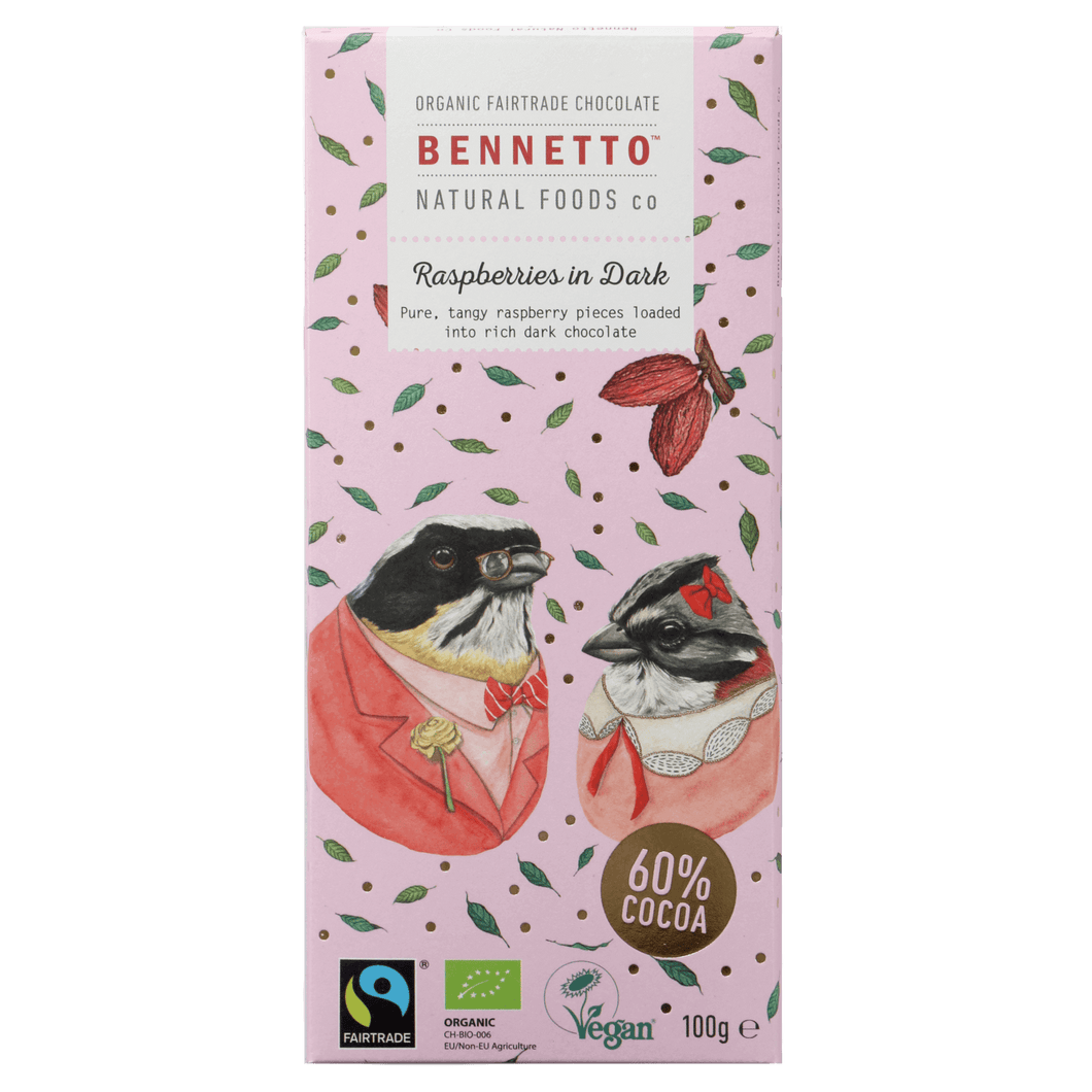 Bennetto chocolate bar - raspberries in dark