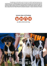Load image into Gallery viewer, $75 Gift of Life card - rescue animal support