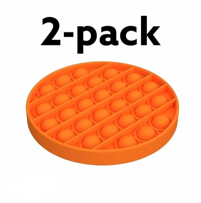 Pop it Fidget Toy Orange 2-pack