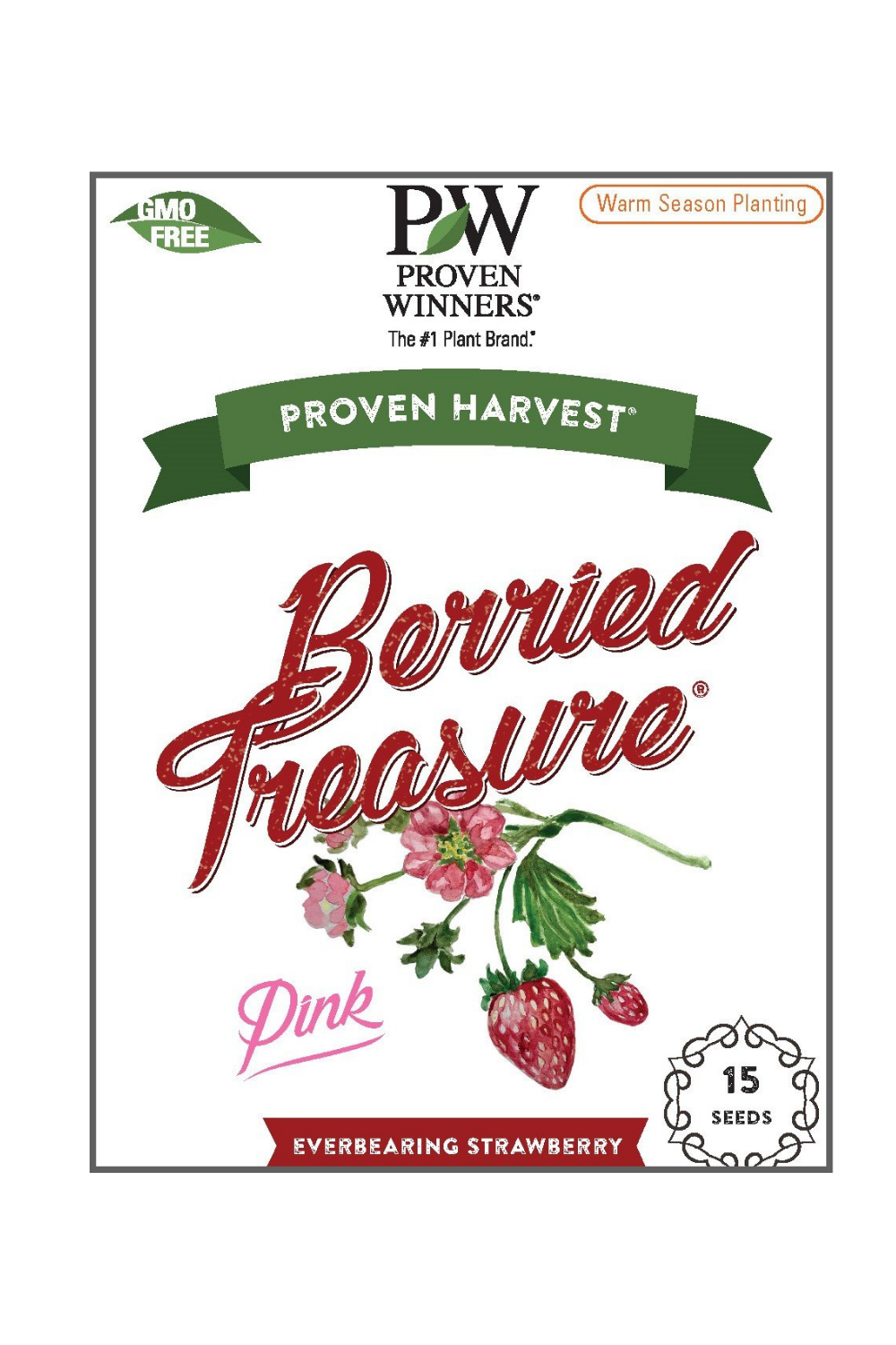 Seeds Berried Treasure® Pink Strawberry (Fragaria)
