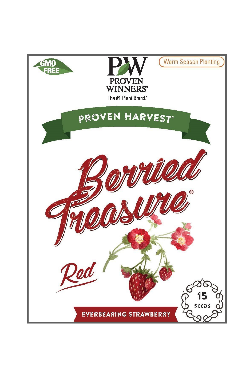 Seeds Berried Treasure® Red Strawberry (Fragaria)