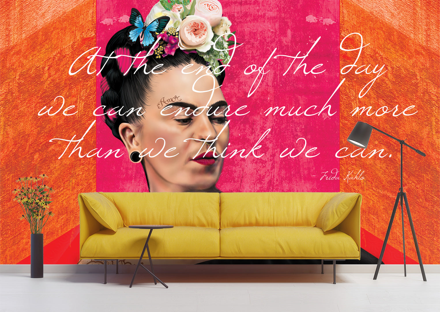 Skeletons of Frida Letters Wallpaper